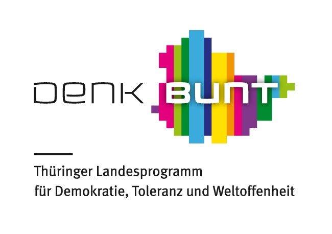 Logo Denk Bunt - Das Thüringer Landesprogramm für Demokratie, Toleranz und Weltoffenheit